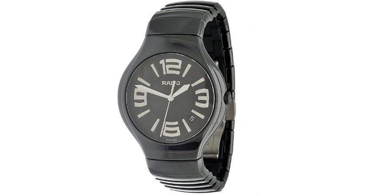 36cd4d148af Lyst - Rado R27653162 True Fashion Polished Black Satin Ceramic Watch in  Black for Men