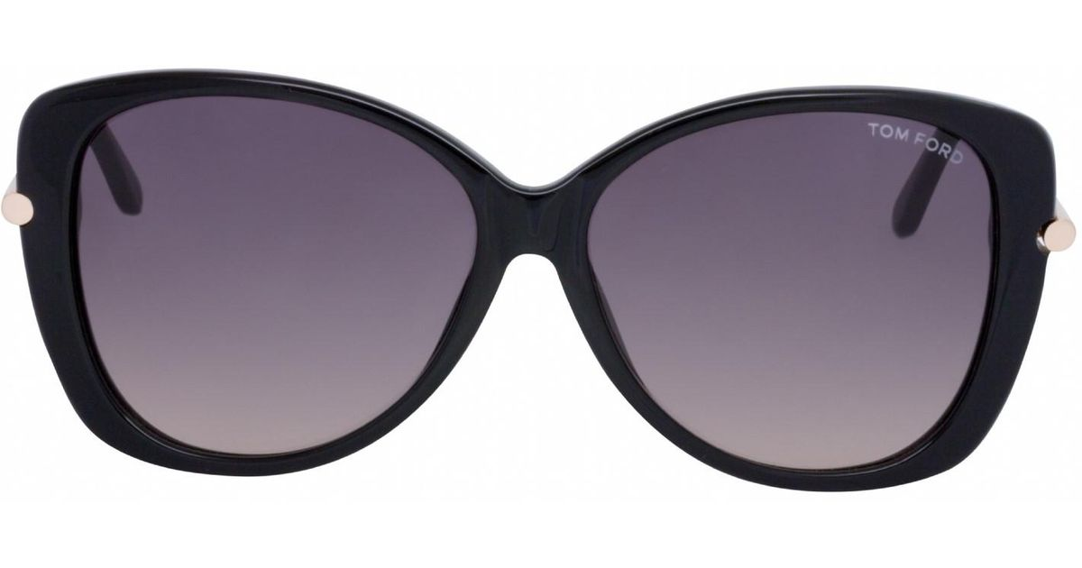 ff64b59e91d Lyst - Tom Ford Ft9324 Sunglasses Shiny Black   Gradient Smoke in Black