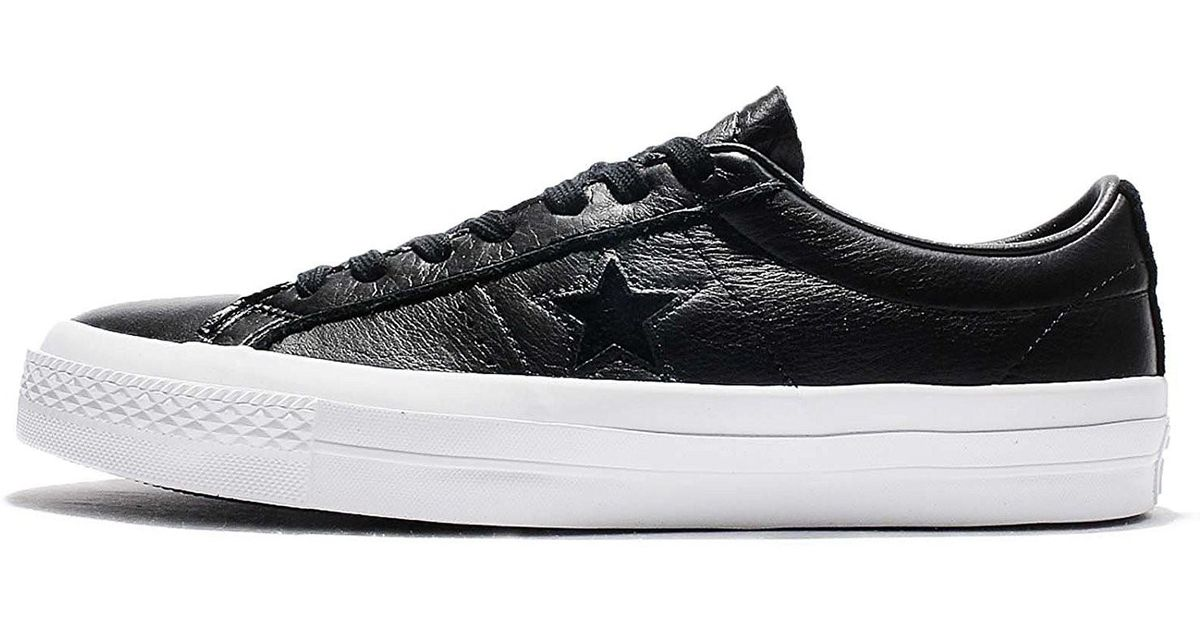 cf03241fb6ce Lyst - Converse 155548c  One Star Ox Black White Black Leather Shoe (black  in Black for Men