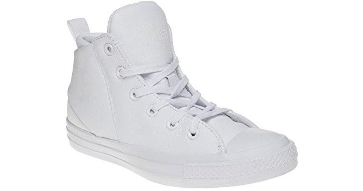 8d5d4803537247 Lyst - Converse Womens Chuck Taylor All Star Sloane Monochrome Leather  White Sneaker in White