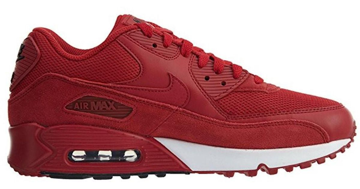 2ad3fa8a88 ... australia lyst nike air max 90 essential gym red gym red black white running  shoe in ...