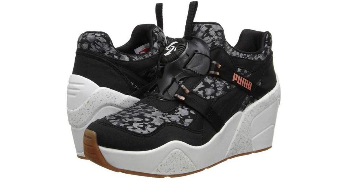 116d3baecde Lyst - PUMA Womens Disc Wedge Nc Sneakers Black 9.5 in Black