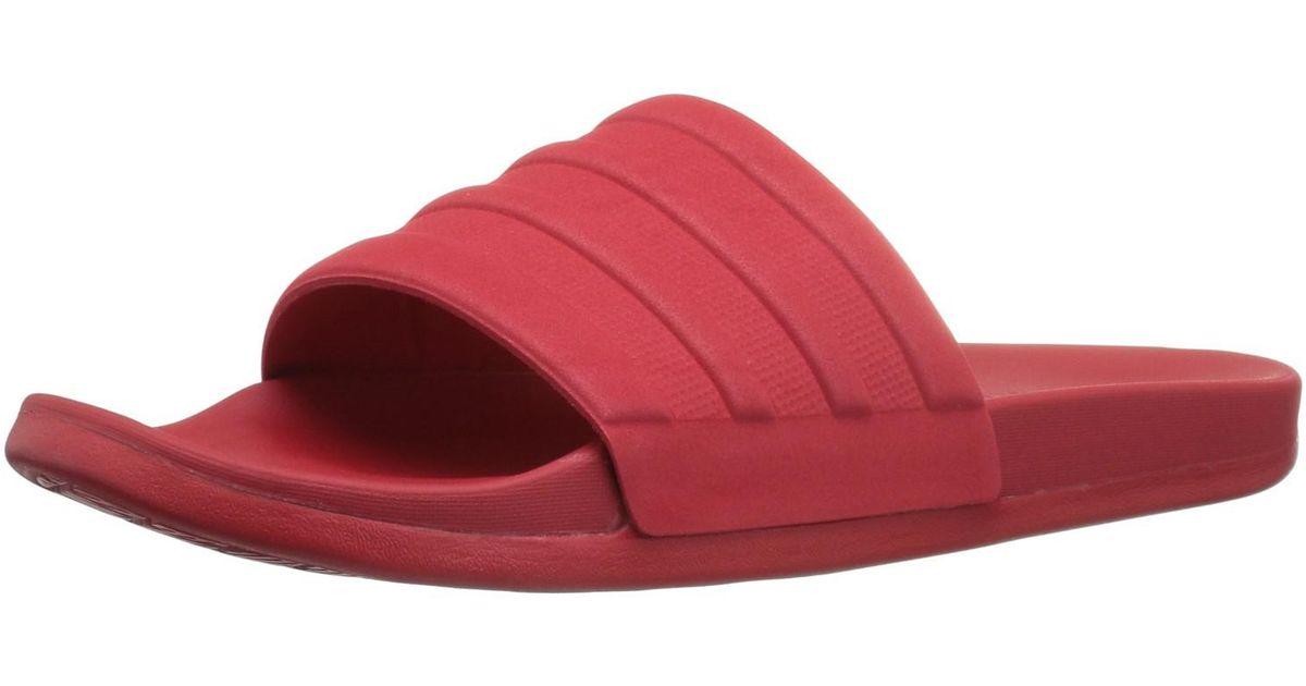 b9d1961dd03f Lyst - adidas Originals Adilette Cf+ Mono Athletic Slide Sandals in Red