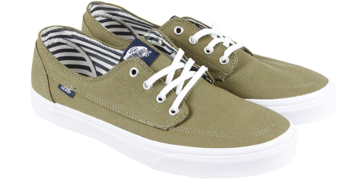 a8b309030ee389 Lyst - Vans Brigata Covert Green Mens Lace Up Sneakers in Green for Men
