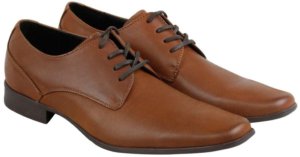 ed64d5d7384 Lyst - Calvin Klein Brodie Emboss British Tan Casual Dress Oxfords in Brown  for Men