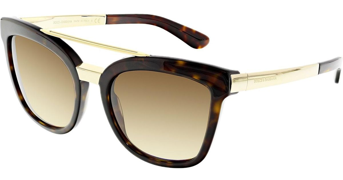 54fbc916788e Dolce & Gabbana Dg4269-502/13-54 Brown Cat Eye Sunglasses in Brown - Lyst
