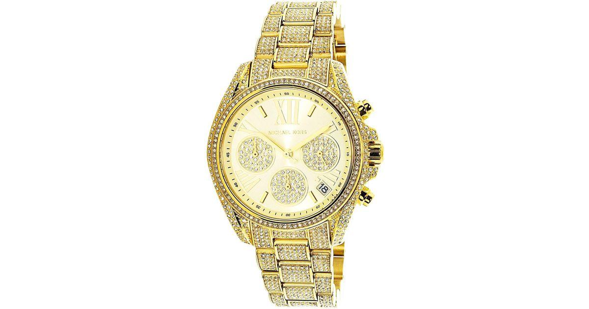 caa0e590d17f Lyst - Michael Kors Mini Bradshaw Dial Ladies Crystal Pave Watch Mk6494 in  Metallic