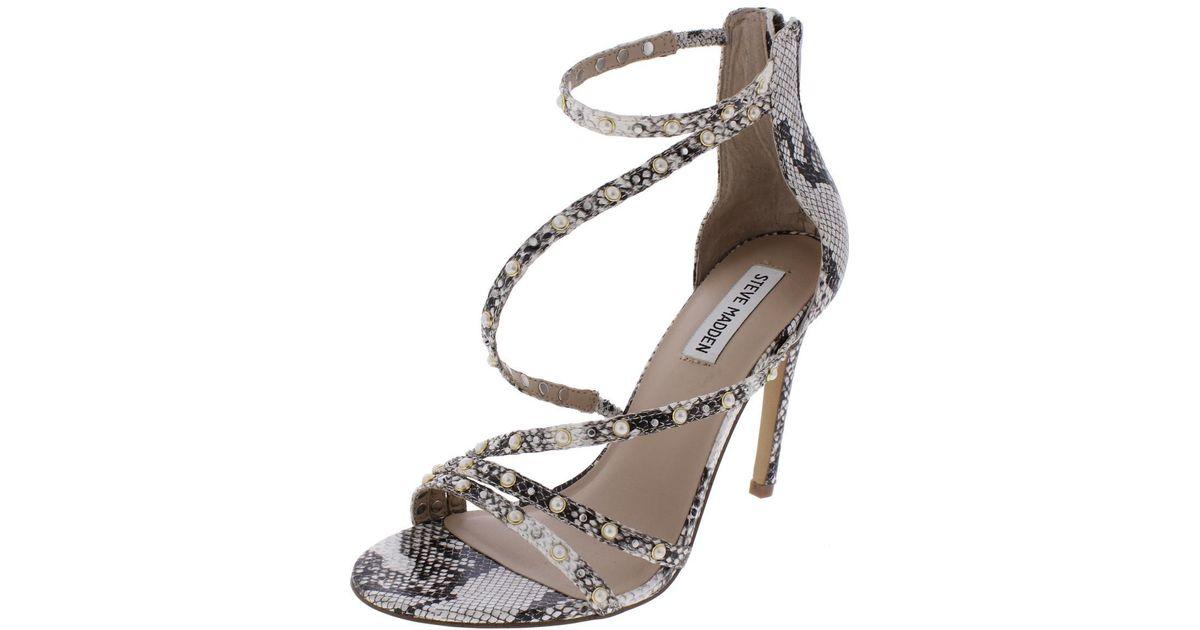 5bf5d6dfc3c Lyst - Steve Madden Meg Open Toe Strappy Dress Sandals