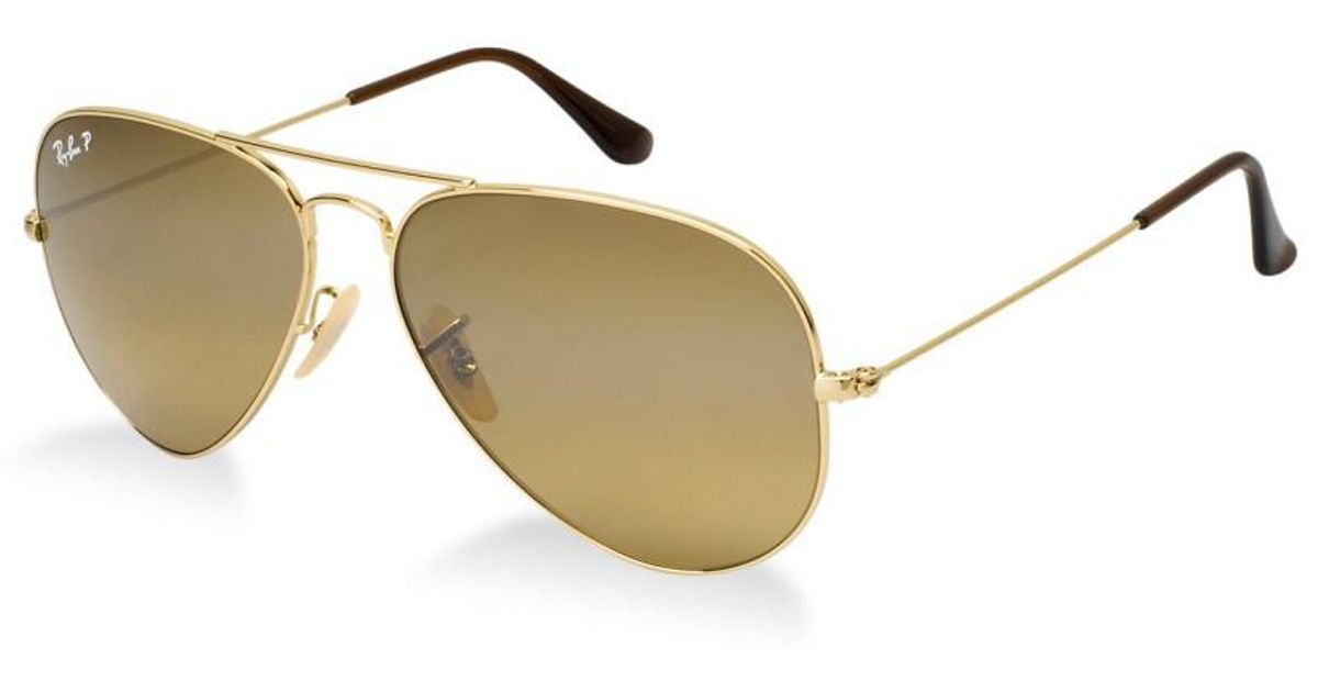 7874d7278d Lyst - Ray-Ban 0rb3025 001 57 58 Gold crystal Brown Polarized Aviator Large  Metal Icons Sunglasses in Metallic for Men