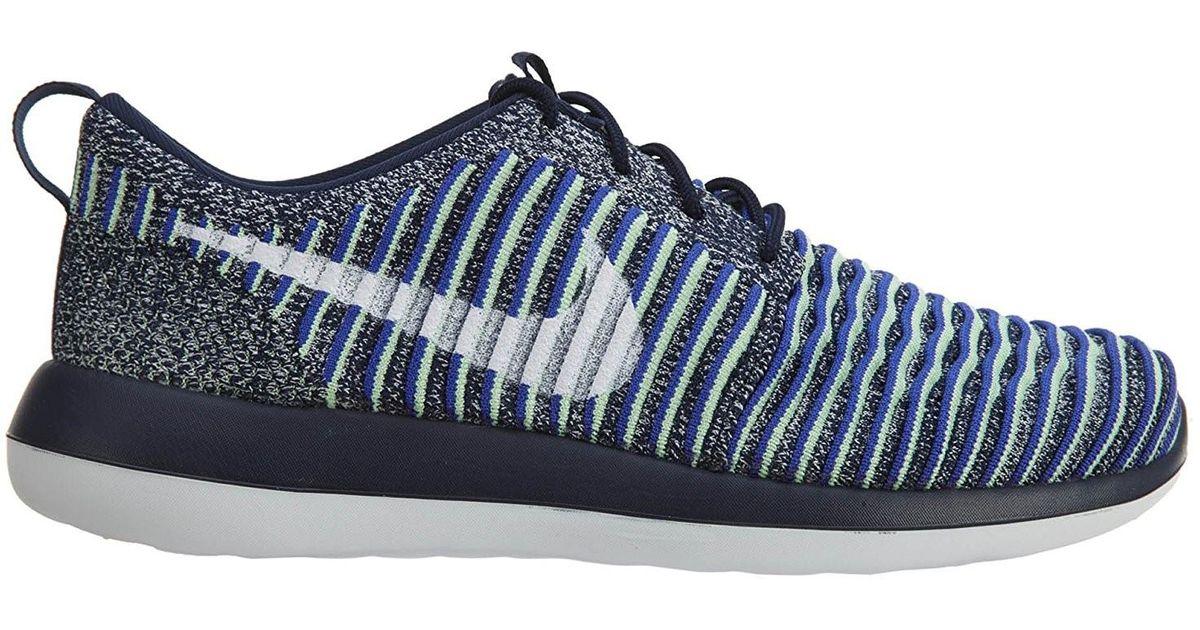 c62adbbc3 Lyst - Nike Roshe Two Flyknit College Navy white white Binary Blue Running  Shoe 8.5 Women Us in Blue