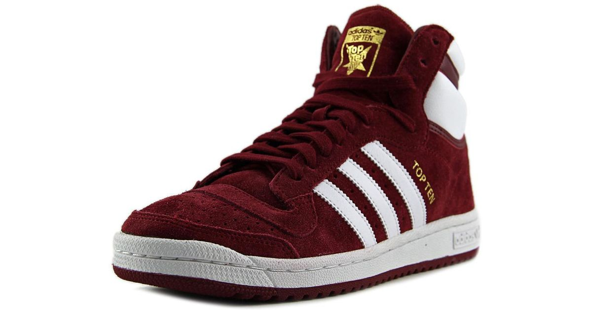 44f208e972047e Lyst - adidas Top Ten Hi Men Us 8 Burgundy Sneakers in Red for Men