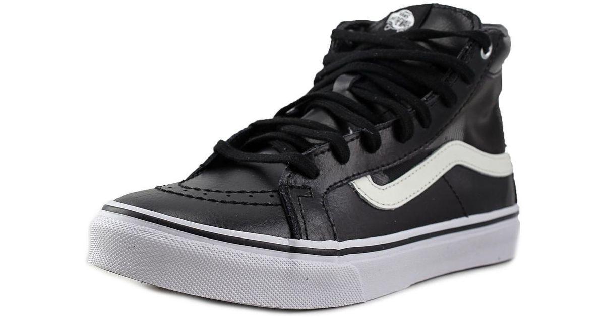 f9ce947213 Lyst - Vans Sk8-hi Slim Cutout Women Us 6.5 Black Sneakers in Black