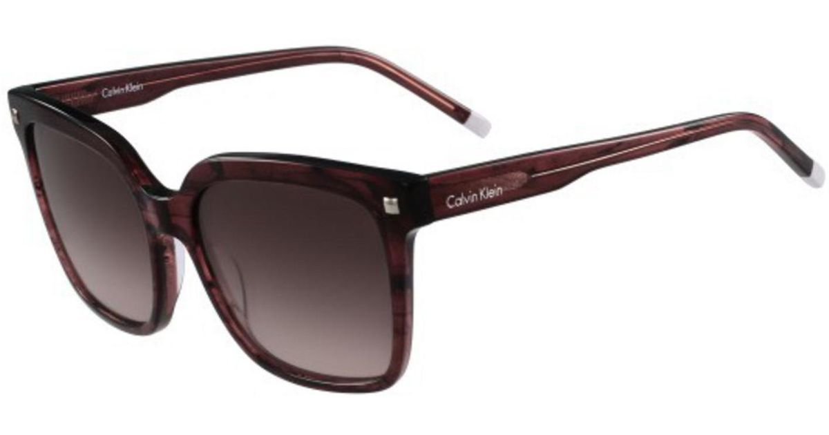 95540c039a9b1 Calvin Klein Sunglasses Ck 4323 S 606 Striped Wine in Brown - Lyst