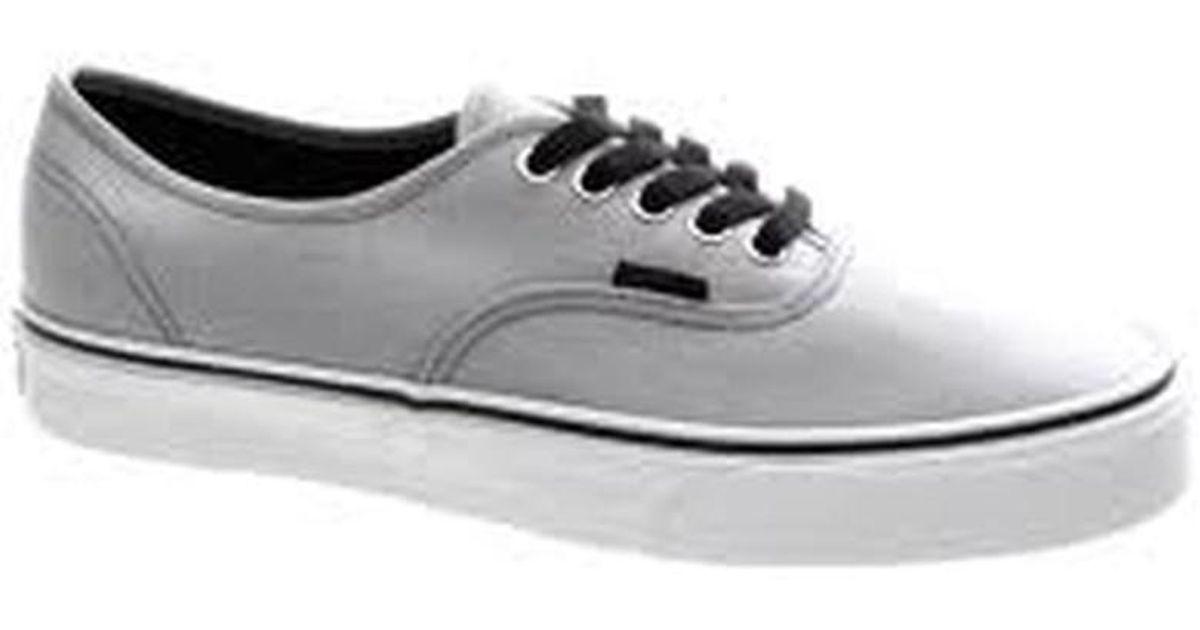 311743d010 Lyst - Vans Unisex Authentic Pin Stripe Skate Sneakers Suitedsteelgreyblack  M3.5 W5