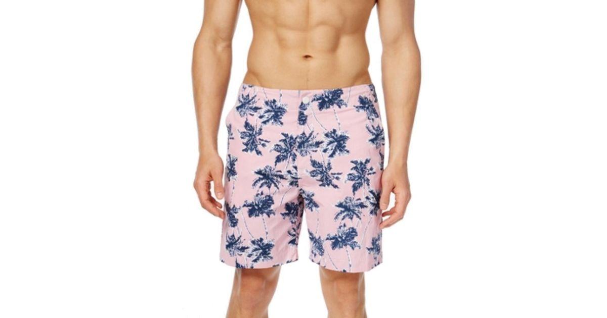 Lyst - Tommy Hilfiger Pink Palm Tree Printed Mens Size Xl Swim Trunks in  Blue for Men 29eaf3c2f1c5
