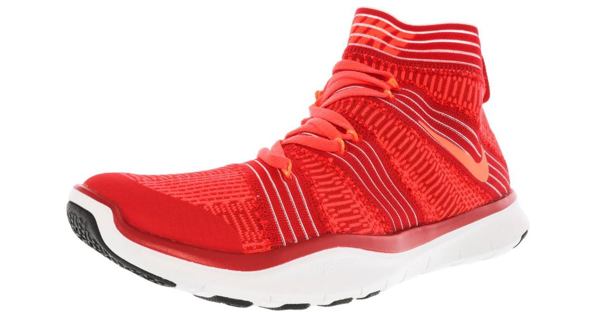 357be7d248fe ... low cost lyst nike free train virtue high top cross trainer shoe 8m in  red for