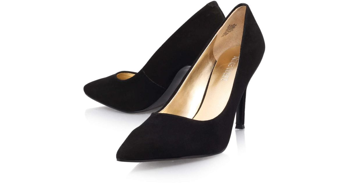 467e8a9fda5 Lyst - Nine West Flax Suede Pointed Toe Classic Pumps in Black