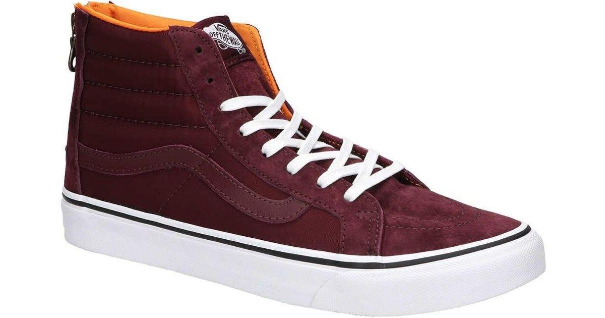 191cec848a Lyst - Vans Vn-0a38groc7   Sk8-hi Slim Zip Mens Skateboarding Shoes Port  Royale ( 9.5 B(m) Us Women   8 D(m) Us Men)