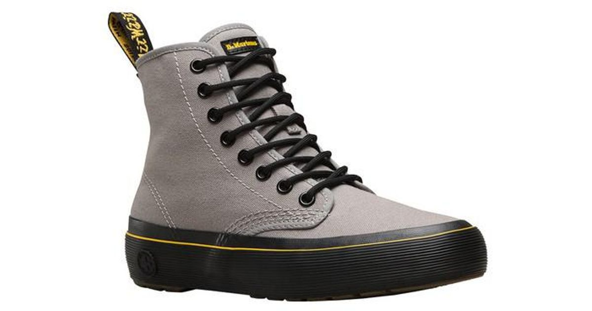 Discount Classic Outlet Locations Sale Online Dr. Martens Reuban 5-Eye LTT Sneaker(Men's) -Black Hi Suede f53lhNPw