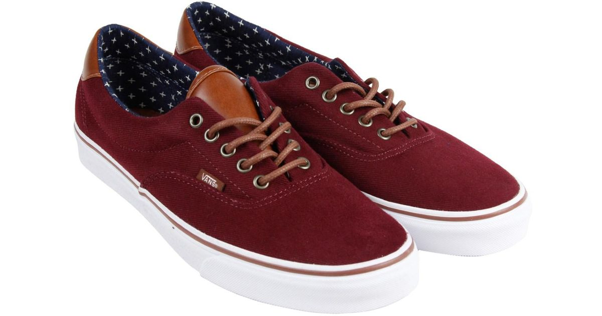 8c069369a7 Lyst - Vans Era 59 Windsor Wine Plus Mens Lace Up Sneakers in Red for Men