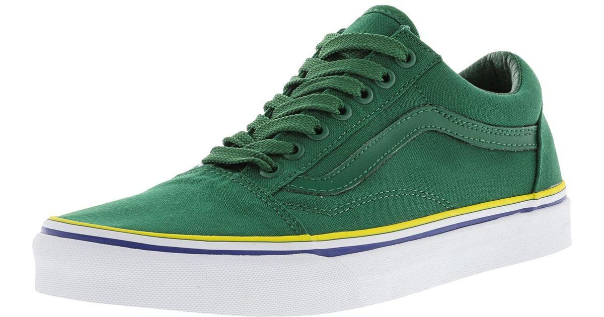 7216f7ab341d Lyst - Vans Old Skool Solstice 2016 Green   Blue Gold Canvas Skateboarding  Shoe - 10m 8.5m in Green for Men