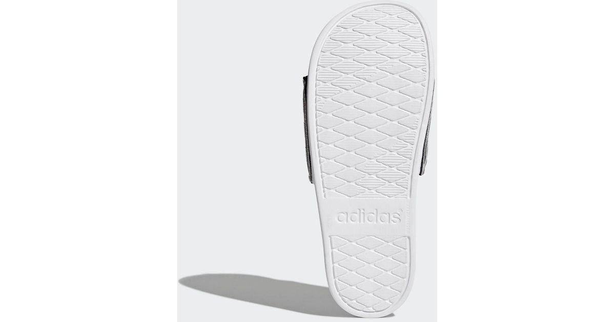 234d1caad4acd Lyst - adidas Adilette Cloudfoam Plus Explorer Slides in White