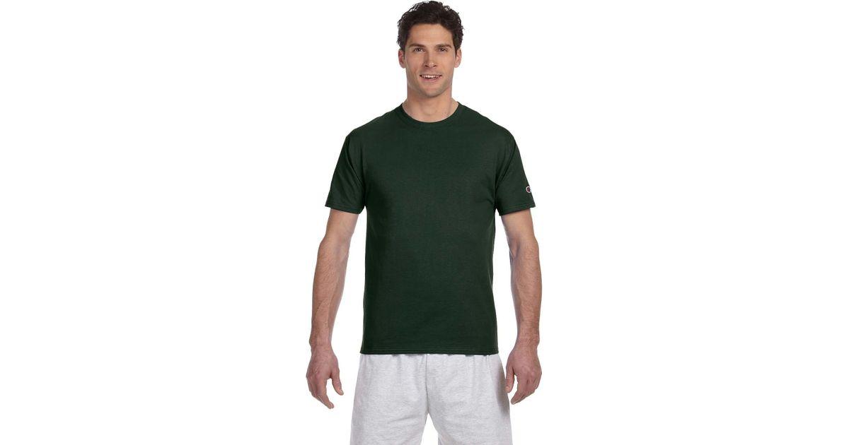 41029d54e Lyst - Champion T525c Adult 6 Oz. Short-sleeve T-shirt Dark Green S in  Green for Men