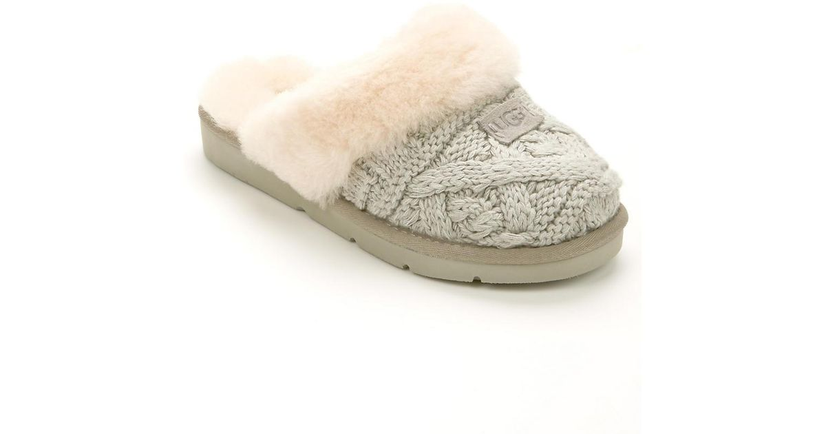 Lyst Ugg Cozy Cable Knit Slippers