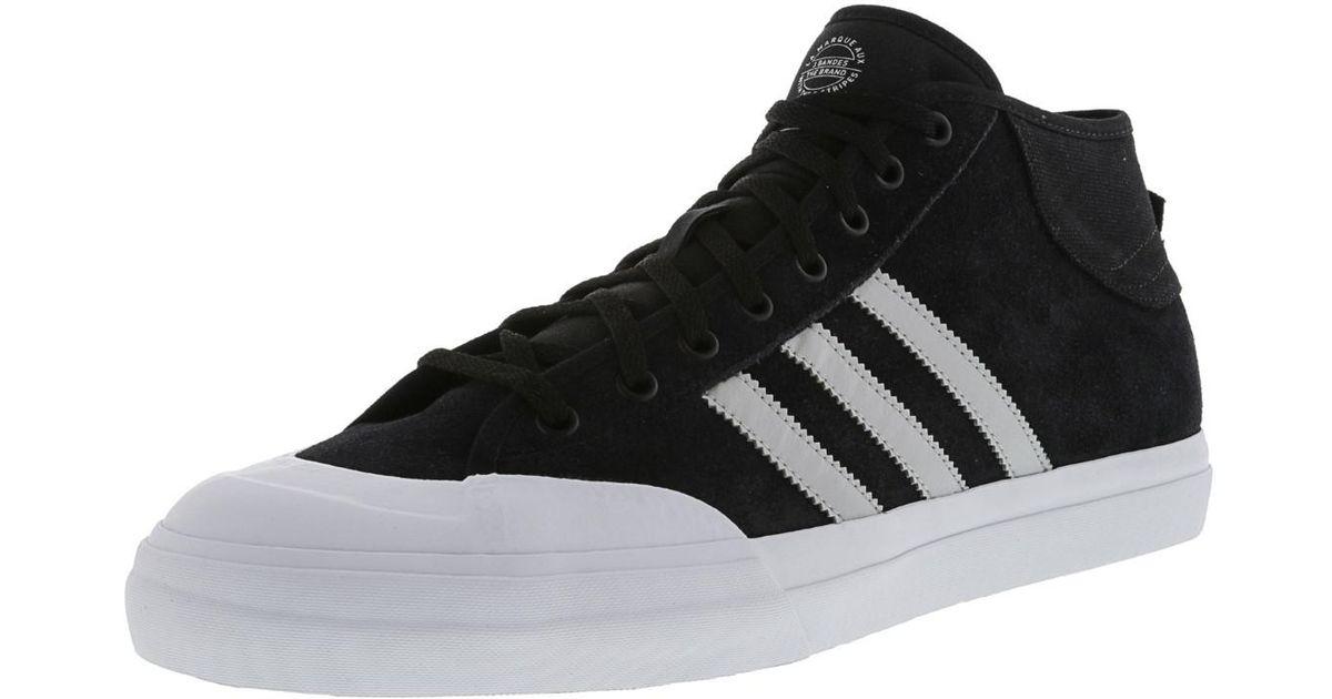 Lyst - adidas Matchcourt Mid Adv Core Black   Light Solid Grey Footwear  White Ankle-high Skateboarding Shoe - 13m in Black for Men f624eab01