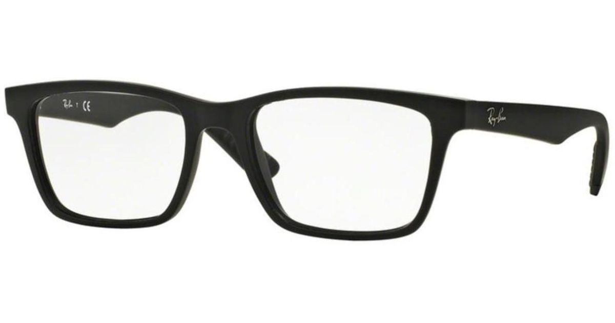 098db1b0f77 Lyst - Ray-Ban Eyeglasses Optical Rx 7025 2077 Matte Black in Black