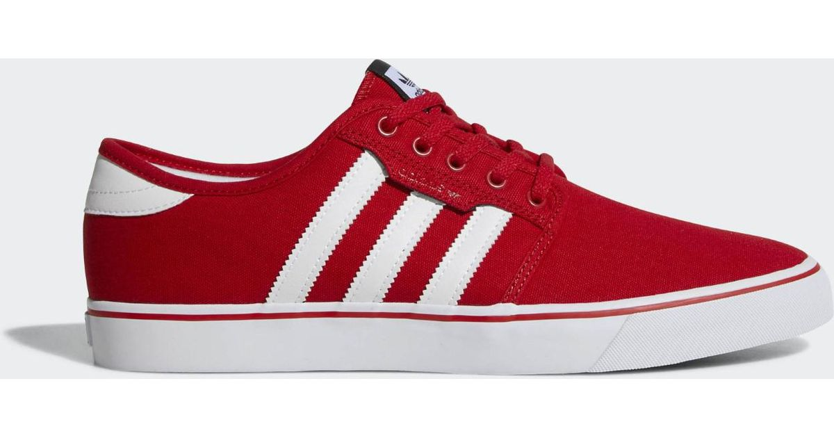 timeless design 6367f dbf0b Lyst - adidas Originals Seeley Scarle ftwwht cblack Skate Shoe 10 Men Us in  Red for Men