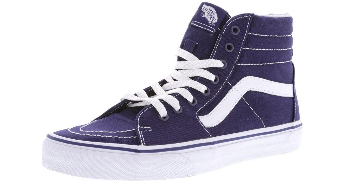 Lyst - Vans Sk8-hi Blue Skate Shoe in Blue for Men ec33156b5