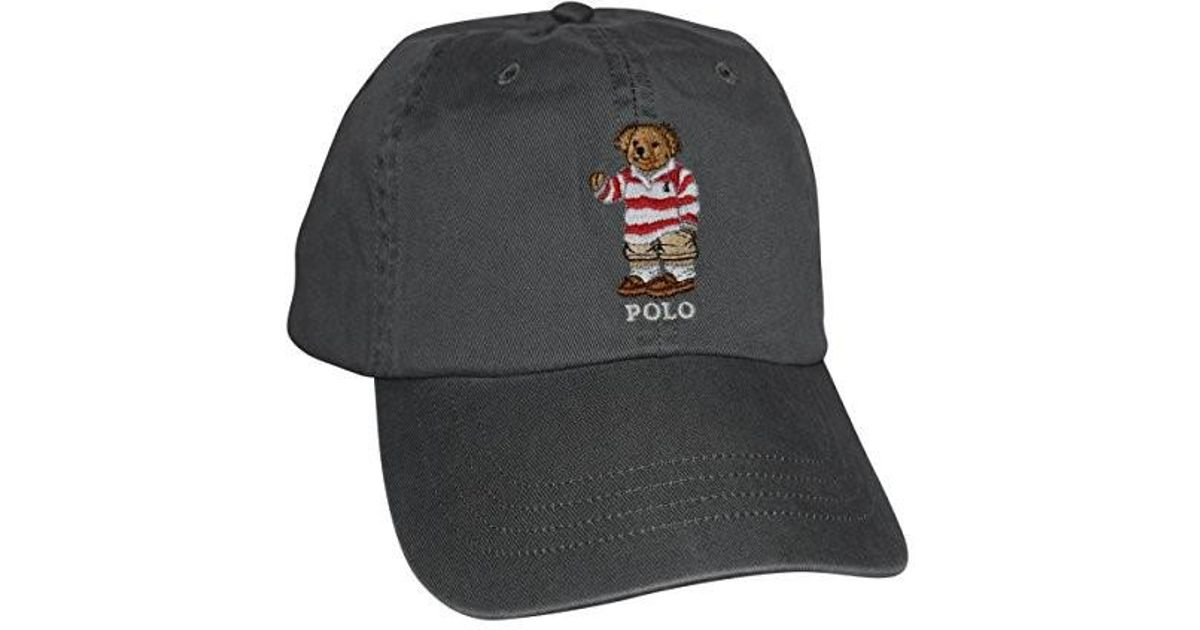 Lyst - Polo Ralph Lauren Teddy Bear Adjustable Ball Cap Hat for Men 646e0730567