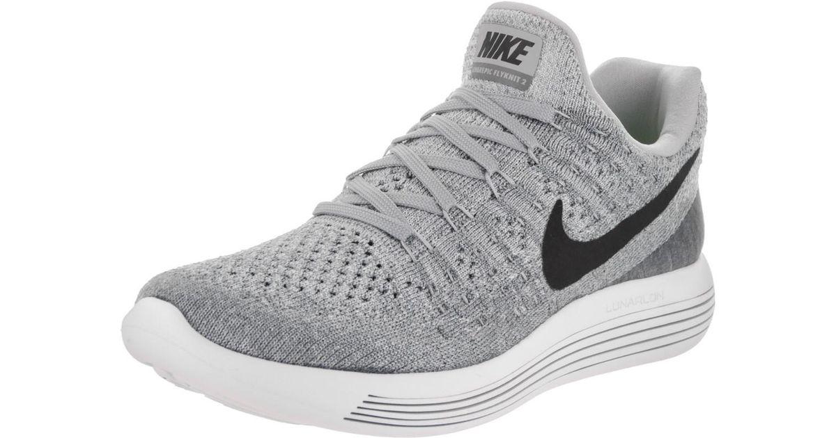 finest selection 4ce70 c56f6 Nike - Gray Lunarepic Low Flyknit 2 Wolf Grey/black/cool Grey Running Shoe  12 Women Us - Lyst