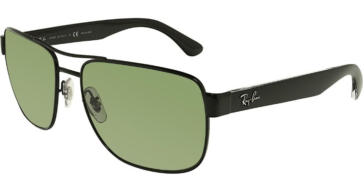 0da458e07ad11 Lyst - Ray-Ban Polarized Rb3530 Rb3530-002 9a-58 Aviator Sunglasses in  Black for Men