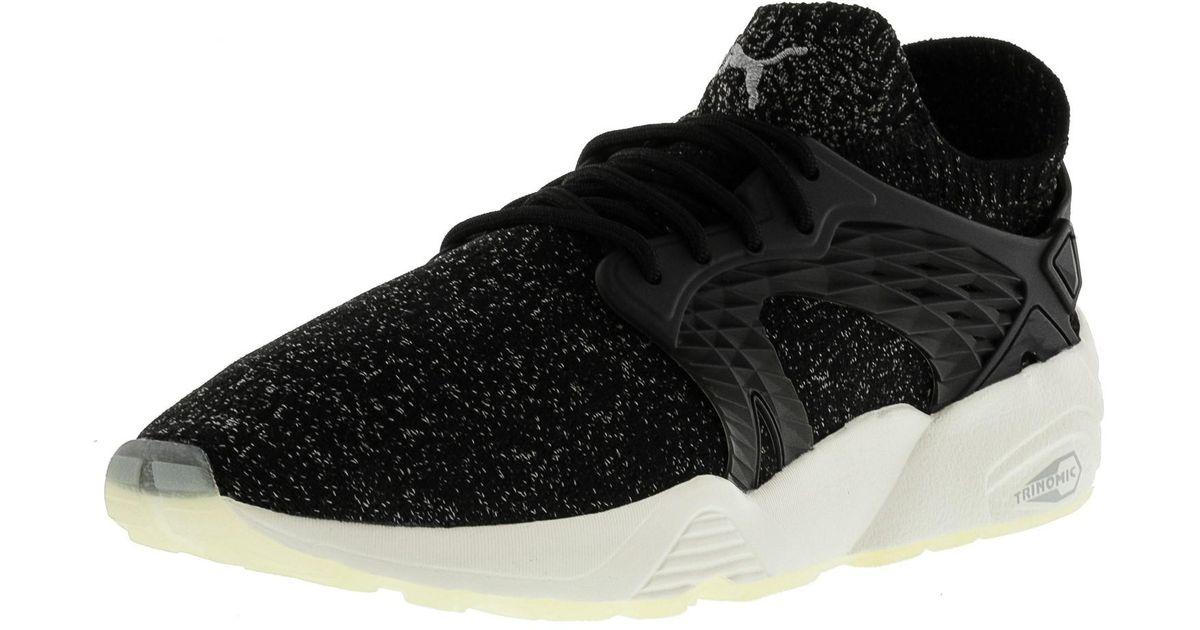 54878e5230e4 Lyst - PUMA Blaze Cage Evoknit Black   Steel Gray Whisper White Ankle-high  Fashion Sneaker - 11m in Black for Men