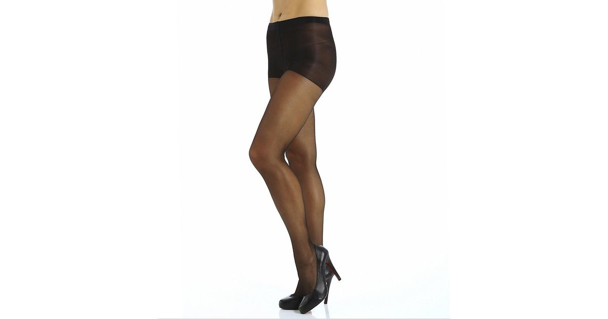 ded94f8370e4d Lyst - Calvin Klein K25f Shimmer Sheer Pantyhose With Control Top (black B)  in Black