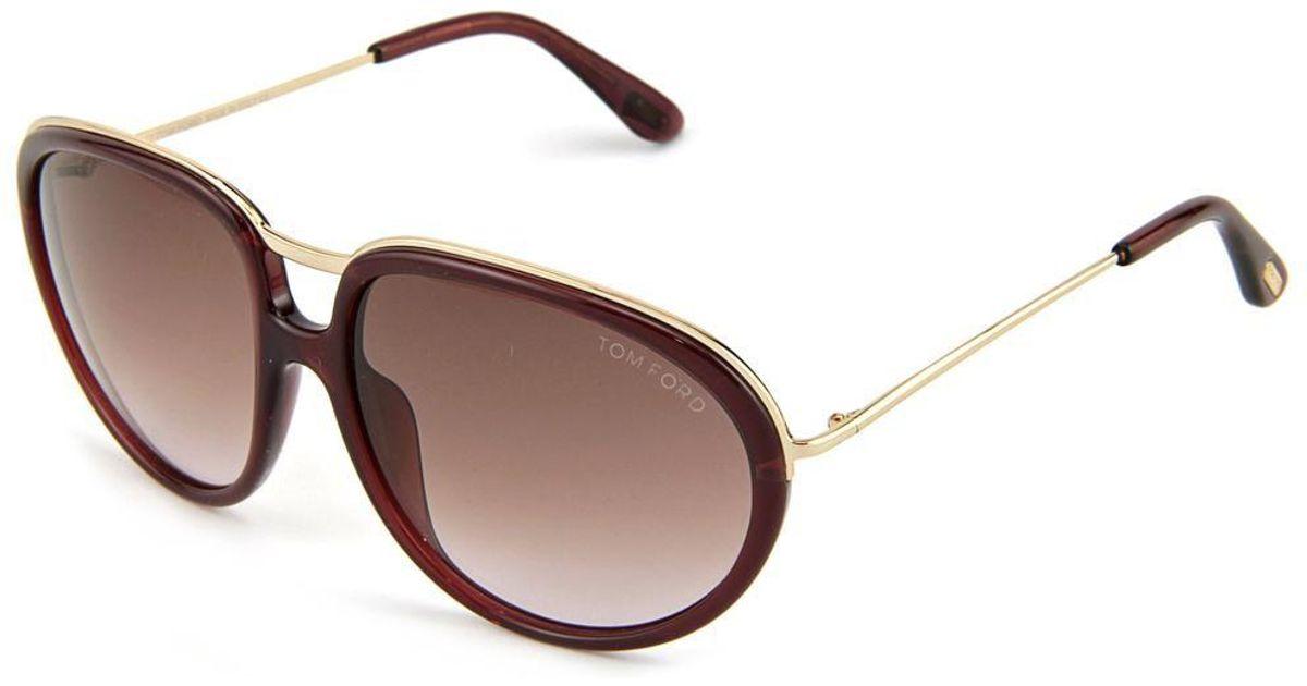 1228adacb4348 Lyst - Tom Ford Ft0281 Faye Oval Sunglasses