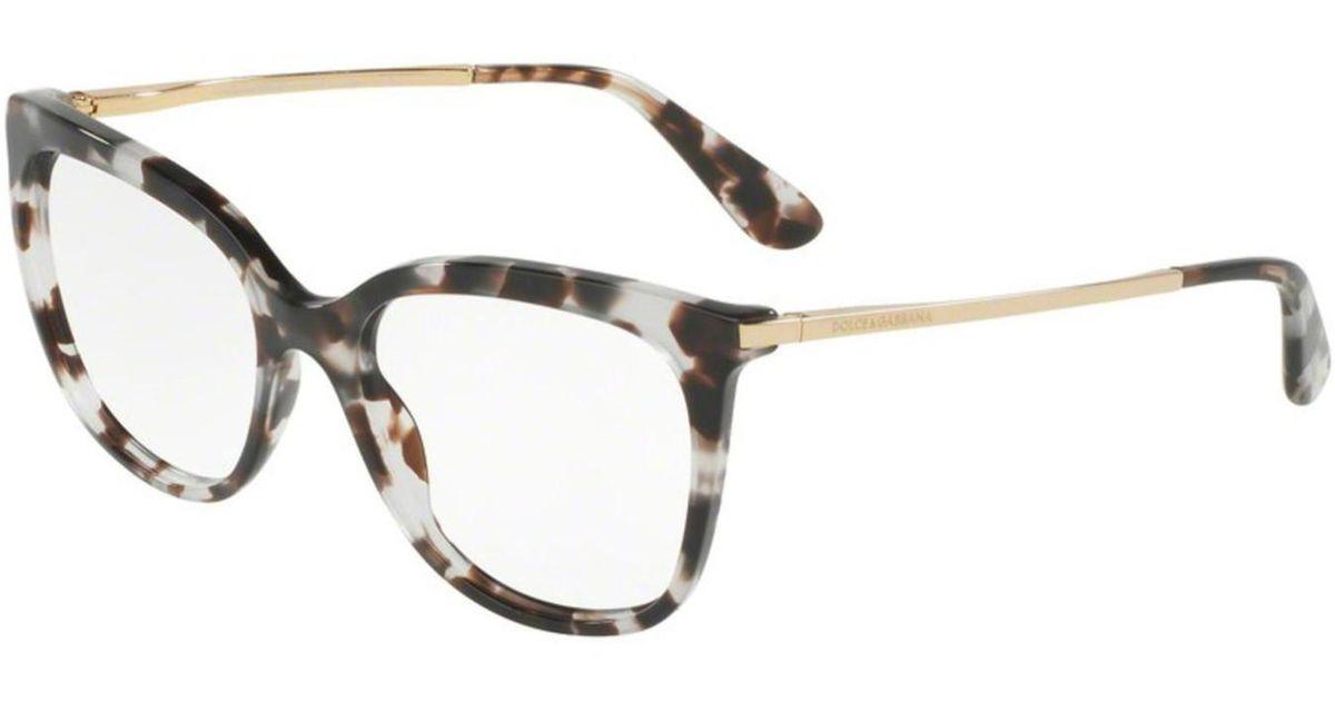8439eb42763 Lyst - Dolce   Gabbana Dolce gabbana Dg3259 Eyeglass Frames 2888-51