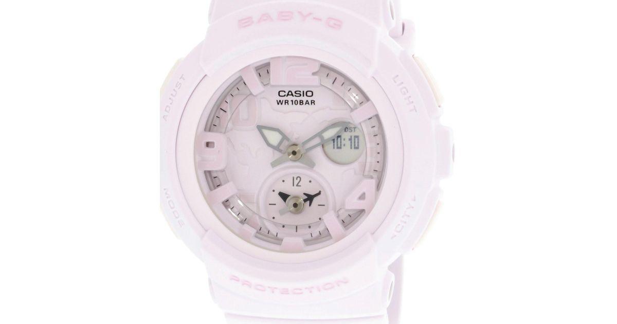 48164f176db4 Lyst G Shock Baby Bga190bc 4b Pink Resin Anese Quartz Sport