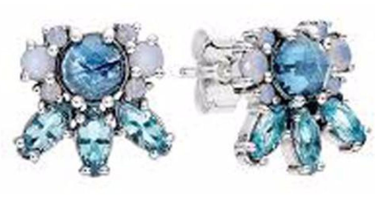 9f7baeeb8 PANDORA 290731nmbmx Sterling Silver Patterns Of Frost Stud Earrings W/  Crystals - Lyst