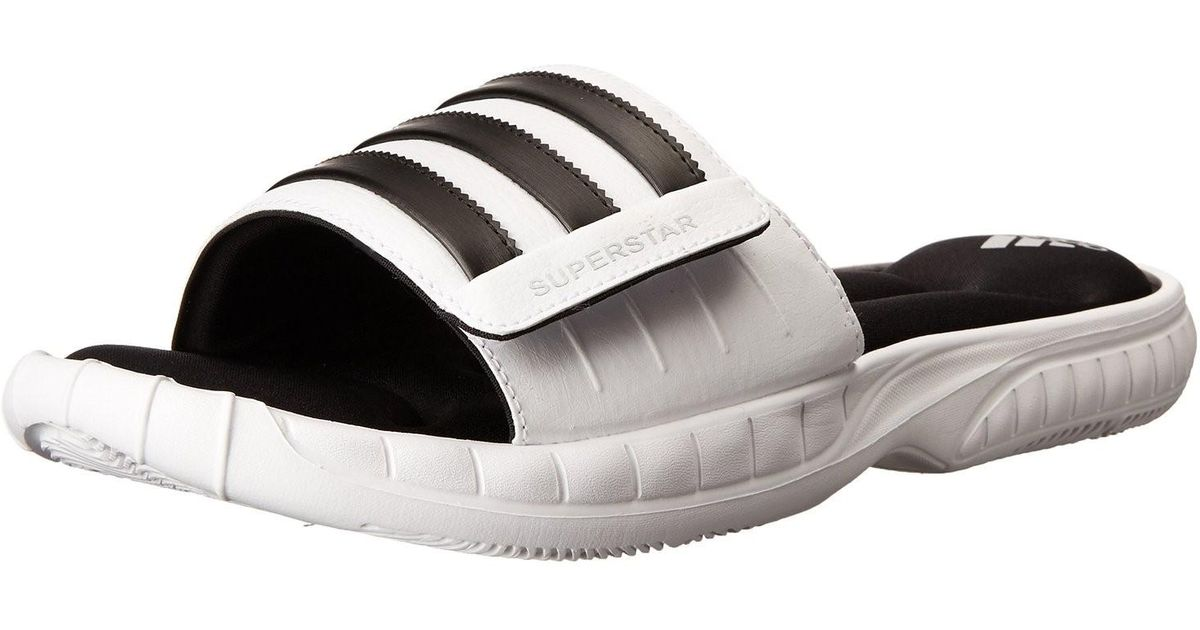 b9c189443387 Lyst - adidas Superstar 3g Cloudfoam Athletic Slide Sandals - 13 -  black  in White for Men