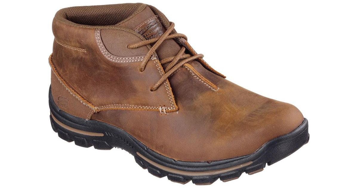 6eabac154f9f0 Lyst - Skechers Relaxed Fit Braver Horatio Boot in Brown for Men