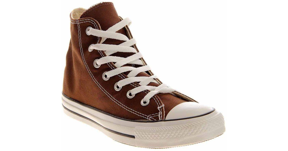 e16e4598025f Lyst - Converse All-star Chocolate Hi-top in Brown for Men