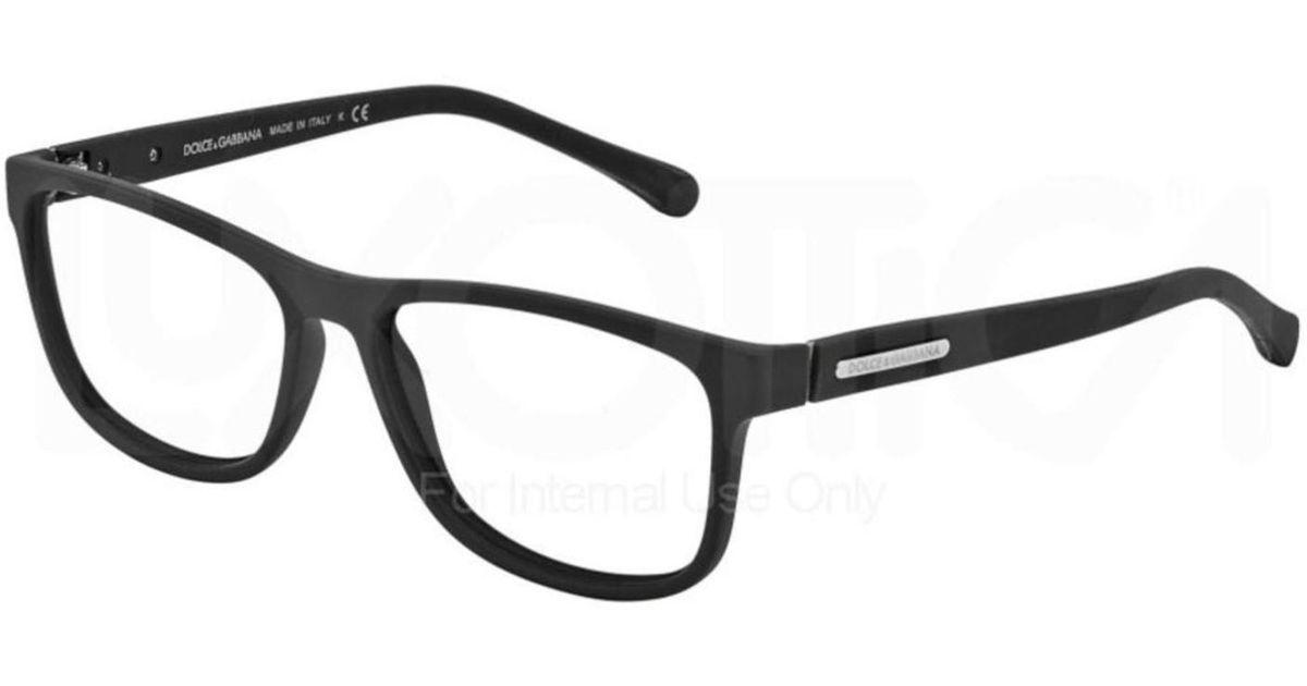 64bcdd2b276f Lyst - Dolce   Gabbana Eyeglasses Dg 5003 2616 Black Rubber in Black for Men