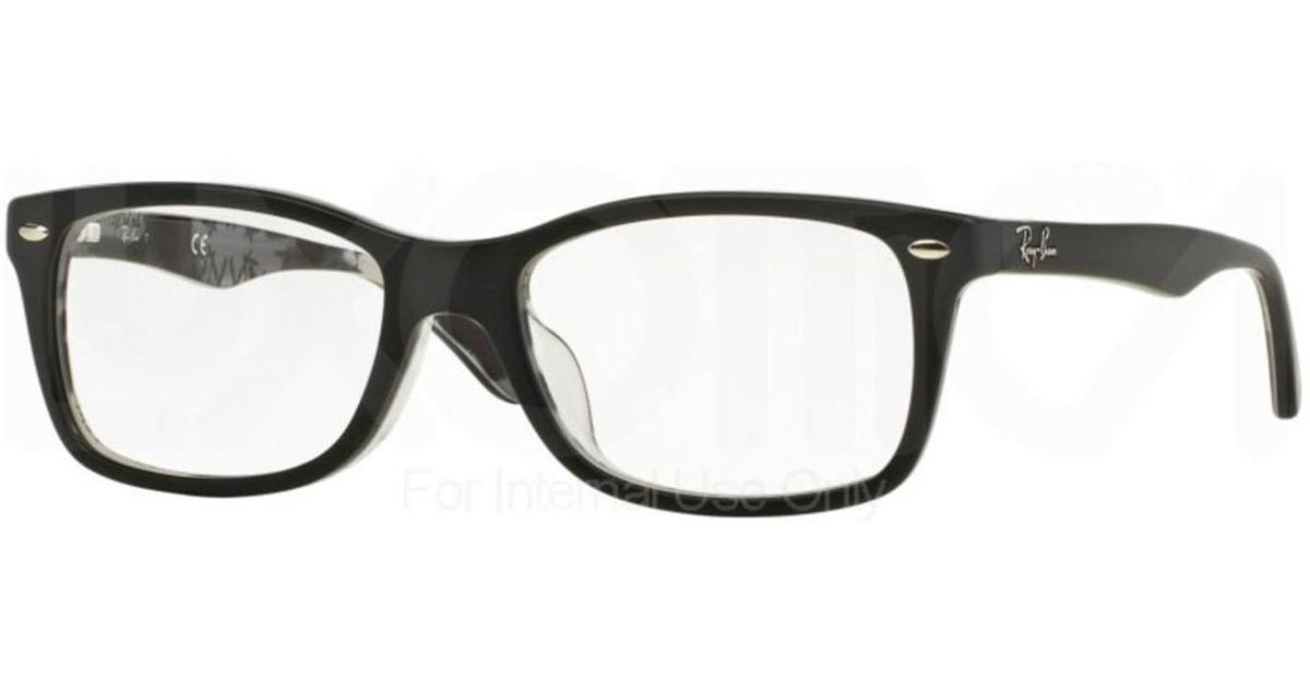 bfe12b9006 Lyst - Ray-Ban Eyeglasses Optical Rx 5228f 5405 Top Matte Black On Texture  in Black
