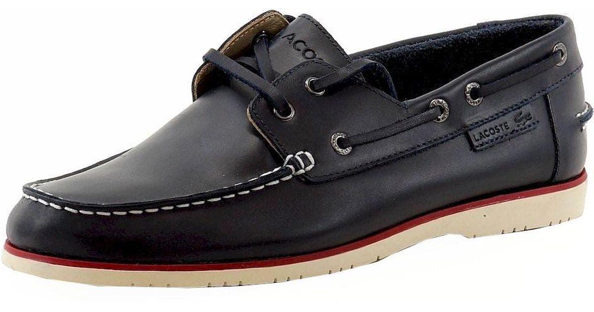 063b114d813581 Lyst - Lacoste Corbon 8 Fashion Dark Blue Leather Boat Shoes Sz  10.5 in  Blue for Men