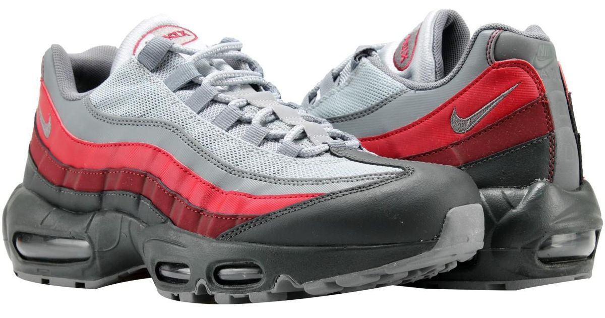 ff0432afc66ce Lyst - Nike Air Max 95 Essential Anthracite grey-red Running Shoes 749766- 025 in Gray for Men