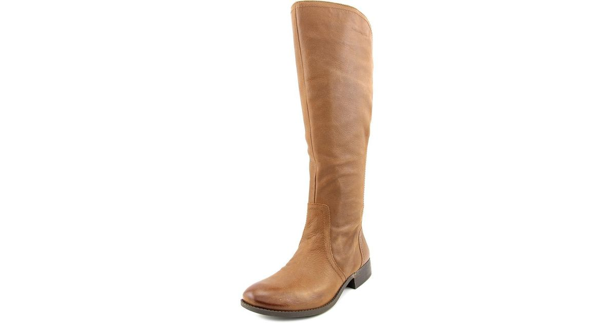 Lyst Jessica Simpson Randee Wide Calf Tan Knee High Boot In Brown
