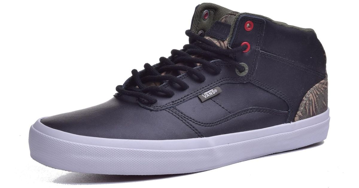44bf00a330 Lyst - Vans Bedford Palm Camo Black   White Mid-top Leather Skateboarding  Shoe in Black for Men